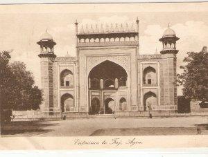 Entrance to Taj. Agra. India Tuck Photogravure Series PC # 952