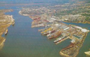 Mississippi Pascagoula Ingalls Shipyard On Pascagoula River