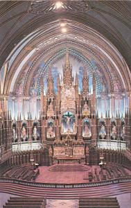 Main Altar , Notre Dame Church , MONTREAL , Quebec , Canada , 50-60s