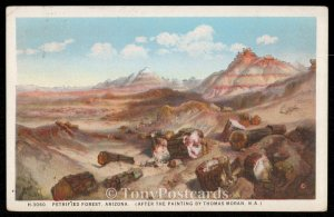 Petrified Forest, Arizona - After the painting by Thomas Moran N.A.