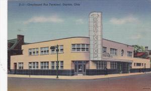 DAYTON, Ohio, 1930-1940s; Greyhound Bus Terminal