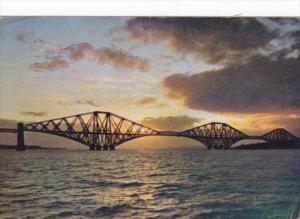 Sunset Over The Forth Bridge Firth Of Forth Scotland 1959