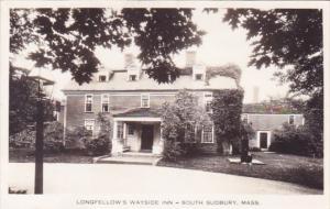 Longfellow's Wayside South Sudbury Massachusetts Real Photo