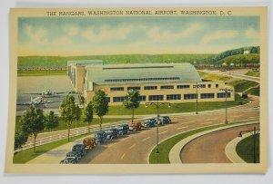 Washington DC Washington National Airport Waiting Room Linen Postcard Q18
