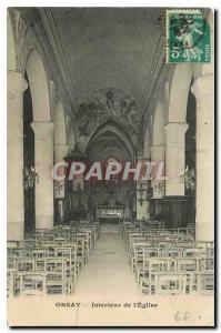Postcard Old Orsay Interior of the Church