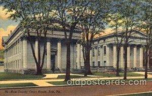 Erie, Pennsylvania USA Erie County Court House 1948 light crease right bottom...