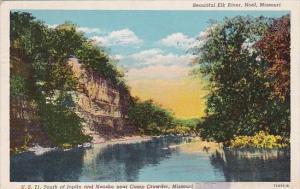 Beautiful Elk River Noel Missouri 1944