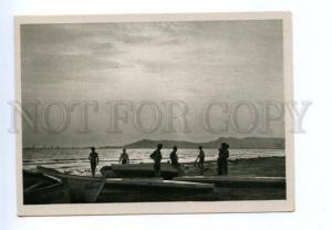 141694 Albania DURRES Beach Vintage postcard