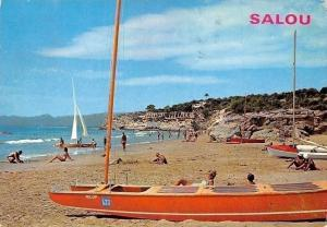 Spain Salou Tarragona, Un detail de la Plage Beach Boats Bateaux Playa