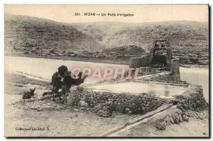 Old Postcard Mzab A Well D & # 39irrigation Camel