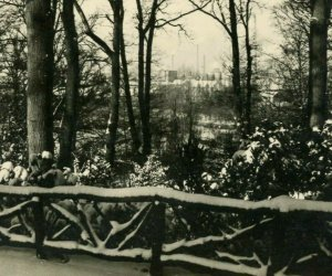 RPPC View of Heerlen Netherlands Gezicht op Heerlen winter real photo postcard