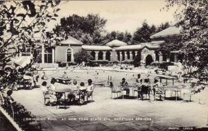 New York Saratoga Springs Swimming Pool At New York State Spa Artvue