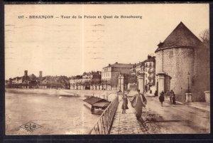 Tour de la Pelote et Quai de Strasbourg,Besancon,France BIN