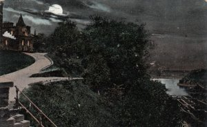 OTTAWA , Ontario , Canada , 1900-10s ; Entrance to Lover's Walk, Moonlight