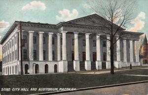 City Hall and Auditorium, Macon, Georgia., Early Postcard, Unused