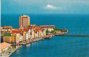Aerial View, Harbor entrance looking towards Caribbean Sea, Queen Emma, Curac...