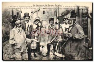 Old Postcard Gars Falaise and Ieurs Lanterns Folklore Costume