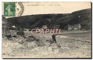 Old Postcard The Plouha Palus The Beach