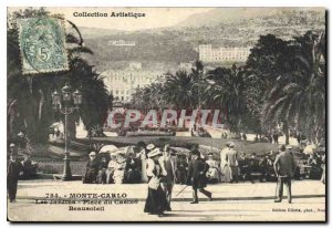 Old Postcard Collection Artistic Monte Carlo Casino Gardens Place Beausoleil
