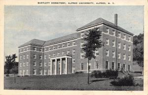 Alfred University New York~Bartlett Dormitory 1937 Blue Sky Postcard