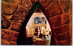 Timberline Lodge, Oregon Postcard BLUE OX BAR Interior View Govt. Camp c1950s