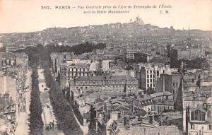 Paris France Vue Generale Prise de l'Arch de Triomphe Paris Vue Generale Pris...