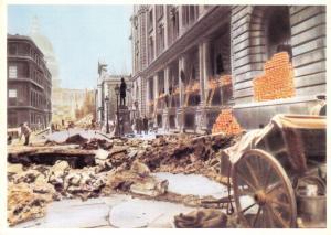 Postal History Postcard King Edward Building during the Blitz WW2 London V46