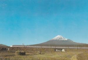 Mount Fuji, Japan - Super Express Train Railroad