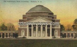 Aud, Duke University in Durham, North Carolina