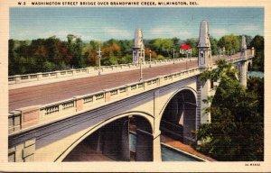 Delaware Wilmington Washington Street Bridge Over Brandywine Creek 1940 Curteich