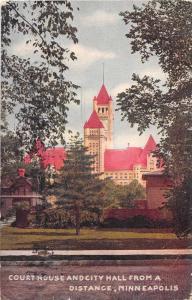 Minneapolis Minnesota Court House Antique Postcard J52835