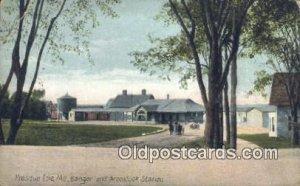 Aroostook Station, Presque Isle, ME, Maine, USA Depot Railroad Unused