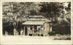 Stein NC (In Message) Wilson & Co Wildwood Cabin c1920 Real Photo Postcard spg