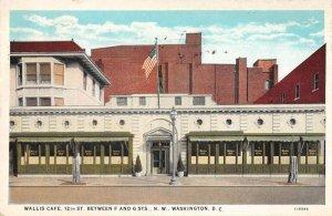 Washington DC Wallis Cafe Vintage Postcard AA23345