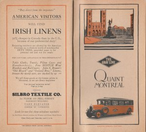 MONTREAL , Quebec , 1910s-30s ; GRAY LINE Bus Tours Booklet