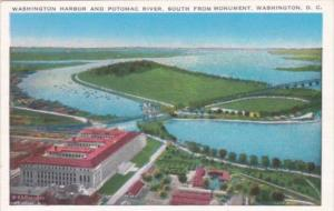 Washington D C Harbor and Potomac River South View From Monument