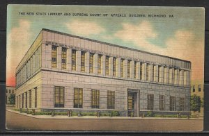 Virginia, Richmond - Library & Supreme Court Of Appeals  - [VA-294]