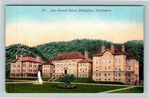 Bellingham WA-Washington State Normal (Teacher's) School Garden Vintage Postcard