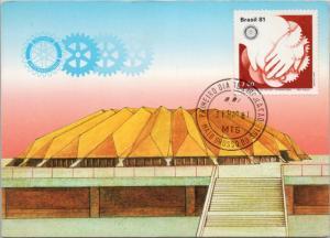 Rotary International Convention Sao Paulo Brasil Brazil Stamp 1981 Postcard D38