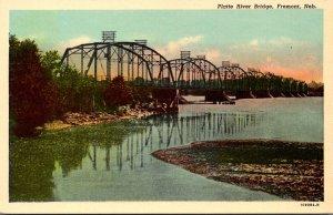 Nebraska Fremont Platte River Bridge Curteich