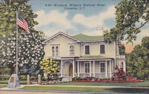 South Carolina Woodrow Wilsons Boywood Home