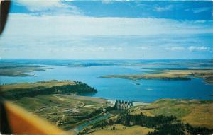 Angostura Dam Aerial View South Dakota SD Cheyenne River Postcard