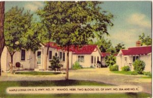 1951 MAPLE LODGE TOURIST CABINS on US Hwy. 77 WAHOO, NEBR.