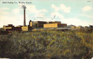 Wichita Kansas Dold Packing Co Street View Antique Postcard K57542
