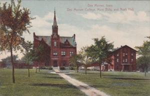 Iowa Des Moines Main Building and Nash Hall Des Moines College