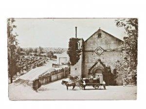 Paul Masson Champagne and Wine Cellars Saratoga, Ca. Horse Wagon w/ Men Barrels