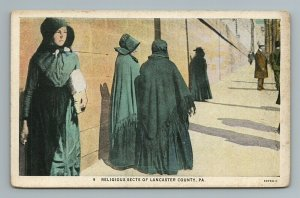 Religious Sects of Lancaster County Pennsylvania PA Postcard