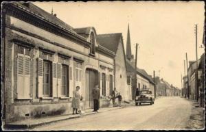 france, BOIS-LE-ROI, Route du l'Habit, Car (1959) RPPC