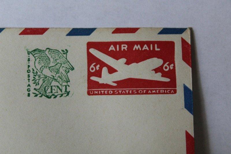 1958 Designs of 1946 U.S. Postage Stationary #10 Envelope with Barber Stripe