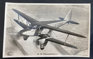 Mint England RPPC Real Picture Postcard DH Dragonfly